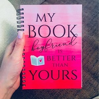 Book boyfriend journal is the perfect gift for romance readers.
