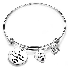 Book themed bracelet is one of the best gifts for bookworms.