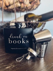 Book flask set is one of the best gifts for bookworms.
