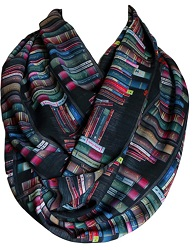 Bookish infinity scarf is one of the best gifts for bookworms.