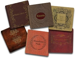 Jane austen coster set is one of the best gifts for bookworms.