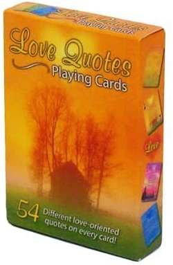 Love Quotes playing cards are one of the best gifts for romance readers.