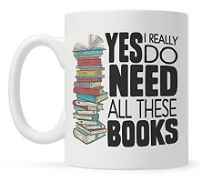Book mug is one of the best gifts for bookworms.