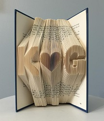 Personalized decorative book is the perfect gift for romance readers.
