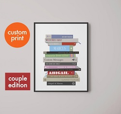 Personalized book picture is the best gift for bookworms.