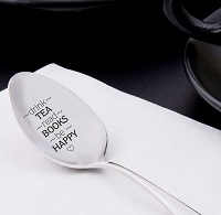 Book related tea spoon is one of the best gifts for bookworms.
