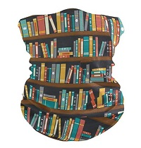 Bandana face mask is one of the best gifts for bookworms.
