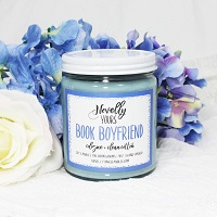 Candle with cologne is the best gift for romance readers.