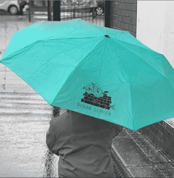 Book themed umbrella is one of the best gifts for bookworms.