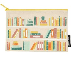 Book stack zip pouch is one of the best gifts for bookworms.