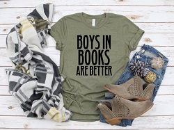 Boys in books T-shirt is one of the best books for the romance book reader.
