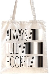 Book themed canvas bag is one of the best gifts for bookworms.