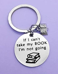 Bookish keychain is one of the best gifts for book lovers.