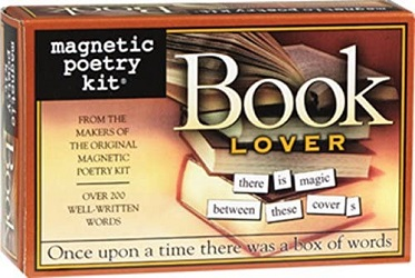 Magnetic poetry for book lovers is one of the best gifts for bookworms.