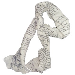 Romantic words scarf is one of the best gifts for bookworms.