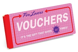 Vouchers for Lovers is one of the best gifts for romance readers.
