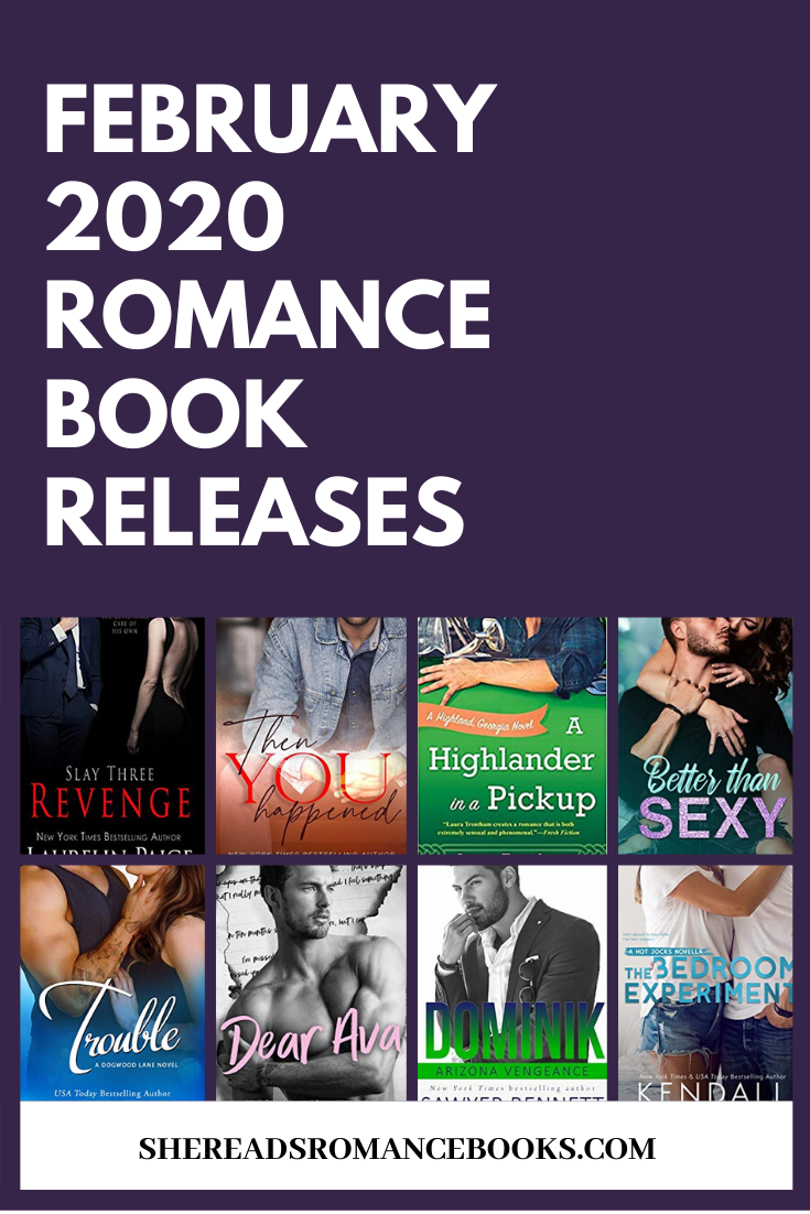 Book list of the upcoming new romance book releases for February 2020