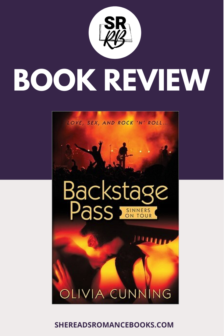 Backstage Pass by Olivia Cunning is an erotic romance featuring rock star, Brian Sinclair of the rock band, Sinners. He meets his muse, a sexuality professor, and it gets hot! Check out the book review by romance book blogger, She Reads Romance Books.