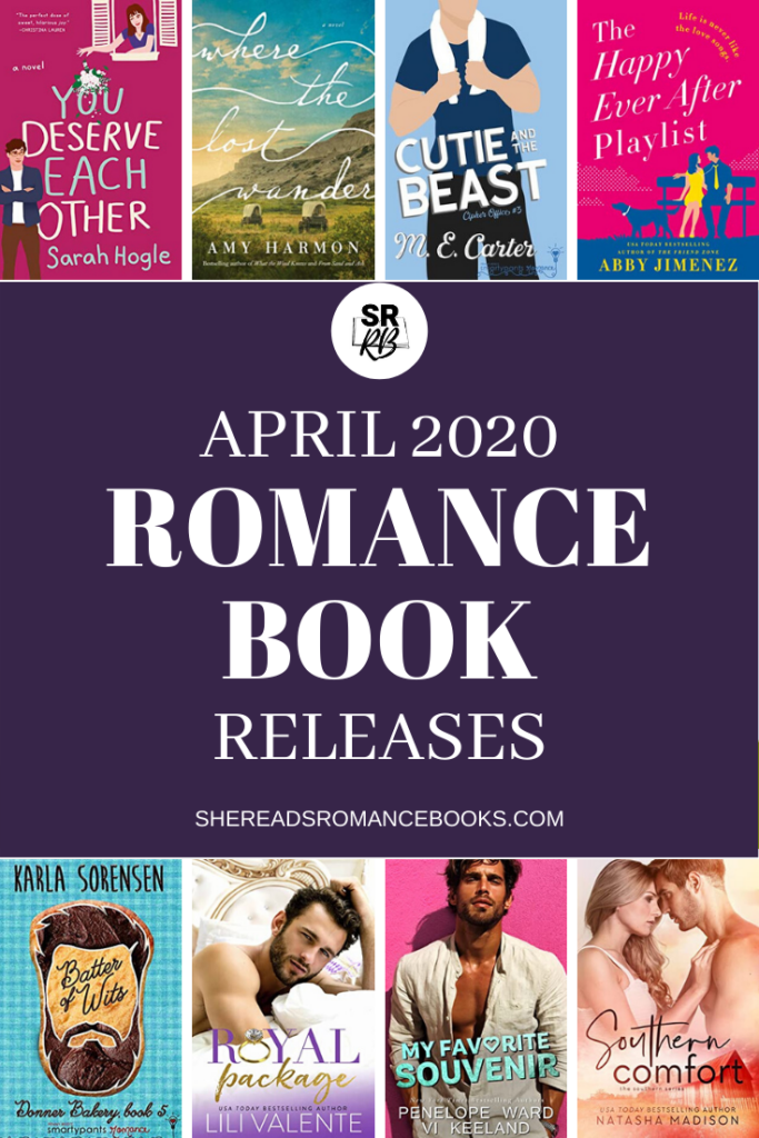 Book list of the most anticipated new romance book releases for April 2020