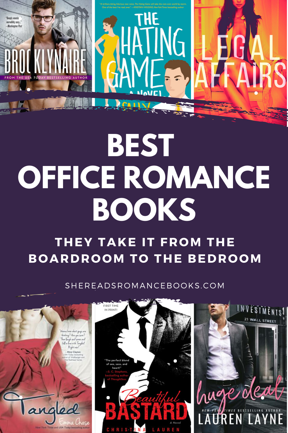 Book list of the best office romance books worth reading.
