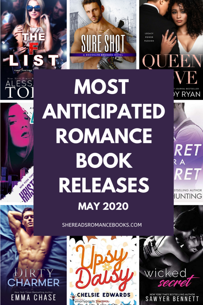 Book list of the most anticipated new romance book releases for May 2020.