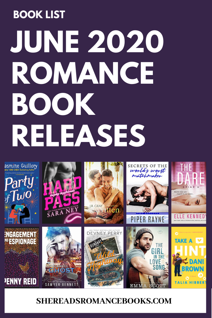 Check out the book list of the most anticipated new romance book releases for June 2020.