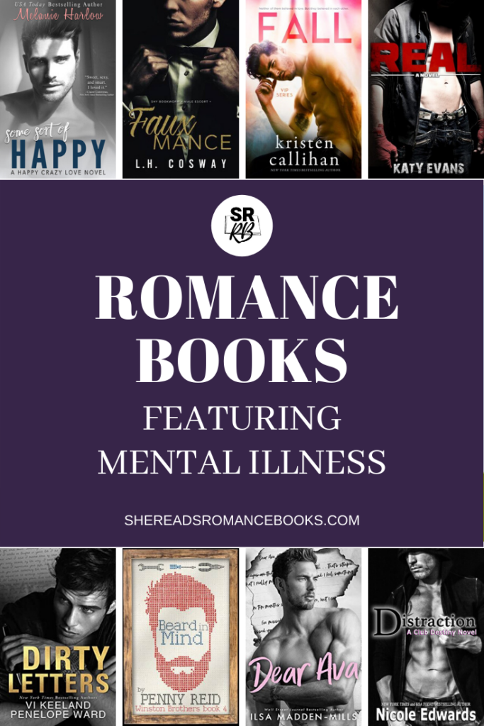 Book list of romance books with mental illness as a theme
