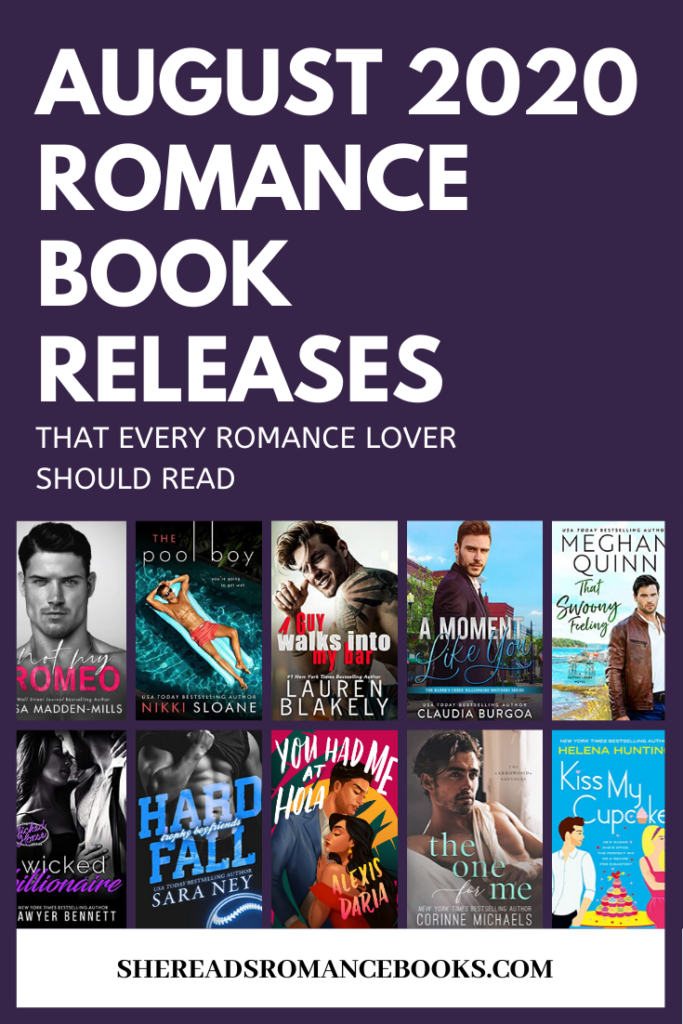 Book list of the most anticipated new romance book releases for August 2020
