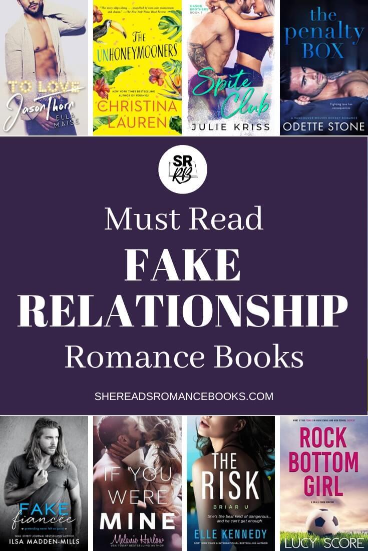 Book list of fake relationship romance books.