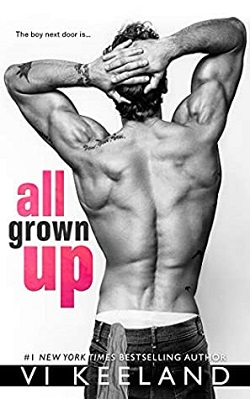 All Grown Up is a book with a hot romance novel cover.