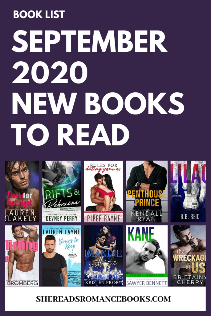 Check out the book list of new romance book releases for September 2020