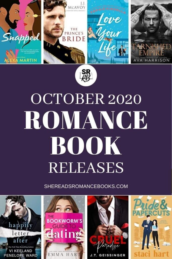 Check out the book list of new romance book releases for October 2020