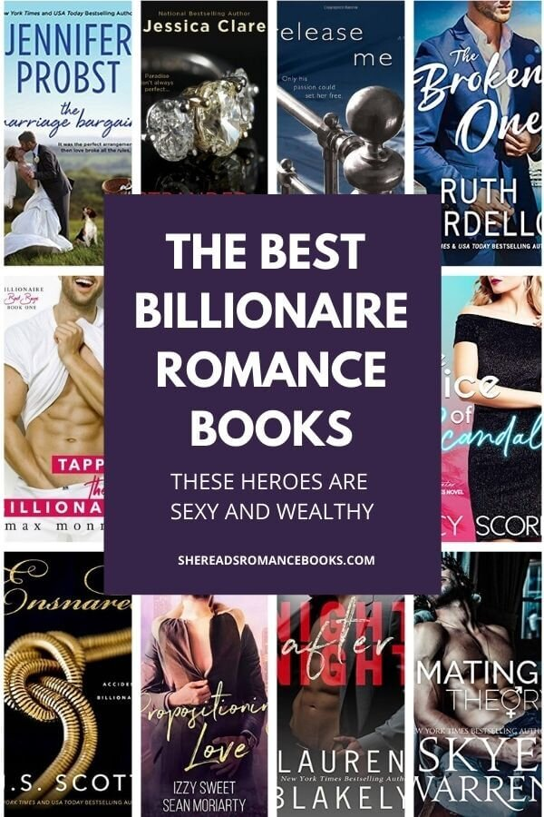 Book list of the best billionaire romance books.