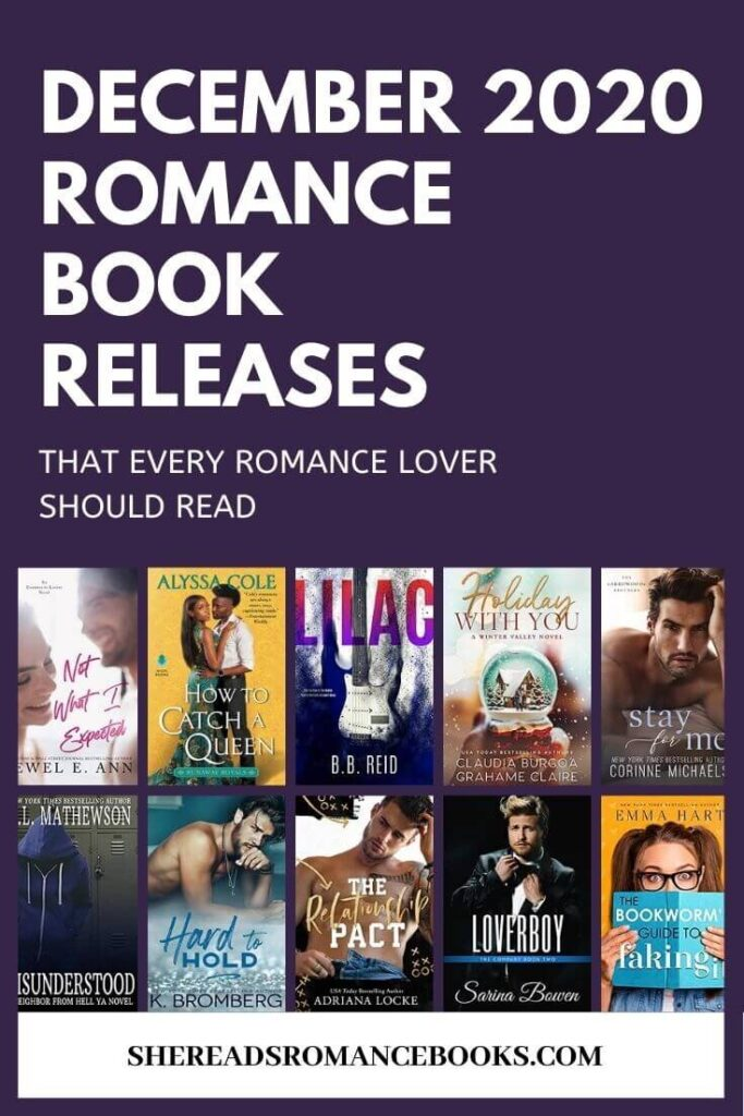 Book list of the upcoming new romance book releases for December 2020.