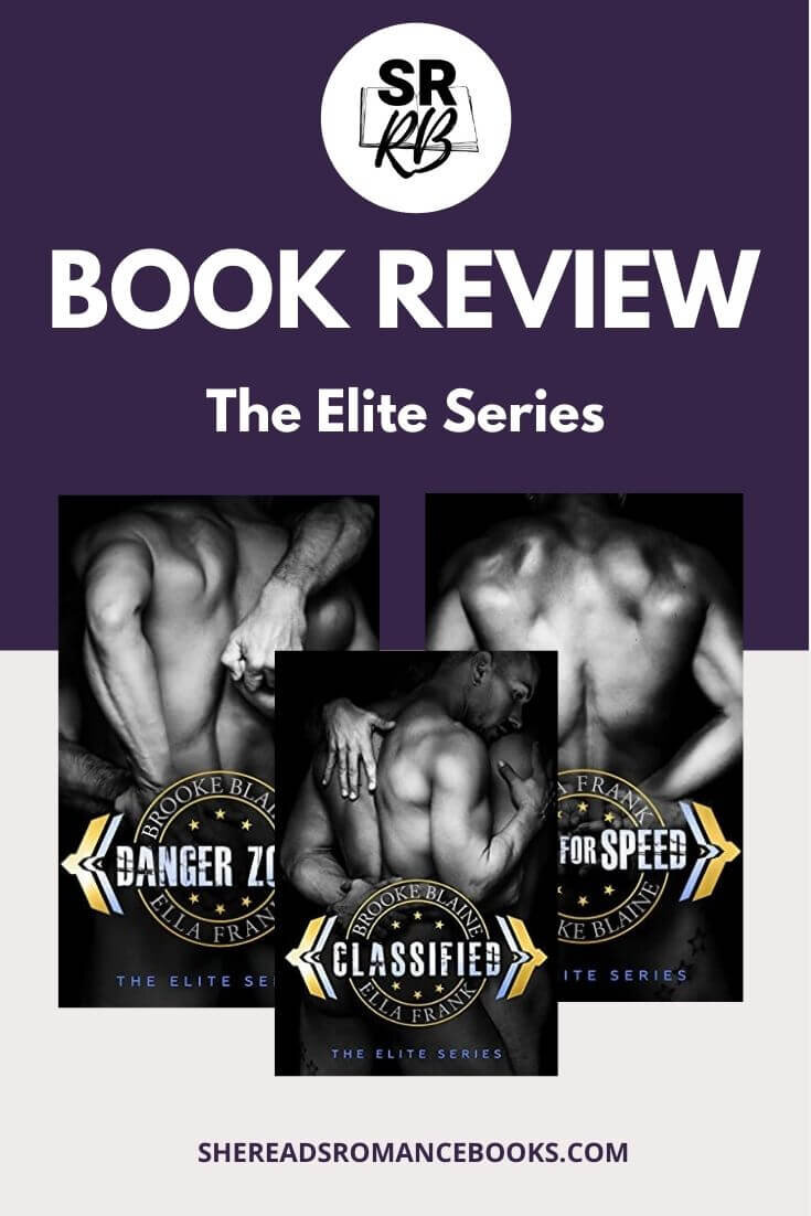 The Elite Series by popular romance book author duo, Brooke Blaine and Ella Frank, is a 3-part MM romance book series with two alpha males vying for the top spot in the fighter pilot academy and in each other's hearts. If you are a fan of MM romance and gay romance, or just like reading books with alpha males, check out these bad boys.