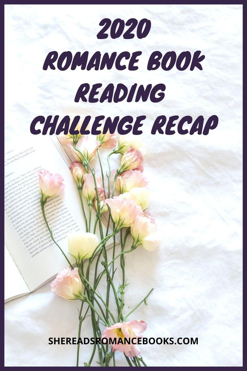 Romance book blogger, She Reads Romance Books gives a recap of this year's romance book reading challenge and reviews her book selections from the year.