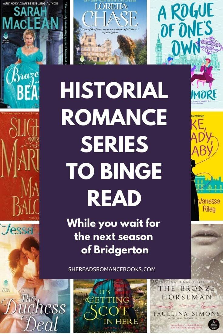 Discover the best historical romance series to read while you wait for the next Bridgerton TV series to premiere.