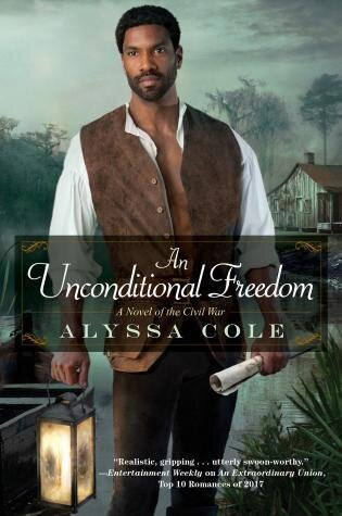 An Unconditional Freedom historical romance book cover.