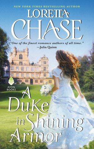 A Duke in Shining Armor historical romance book cover.