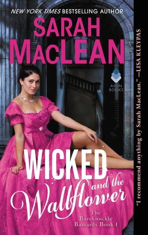 Wicked and the Wallflower historical romance book cover.