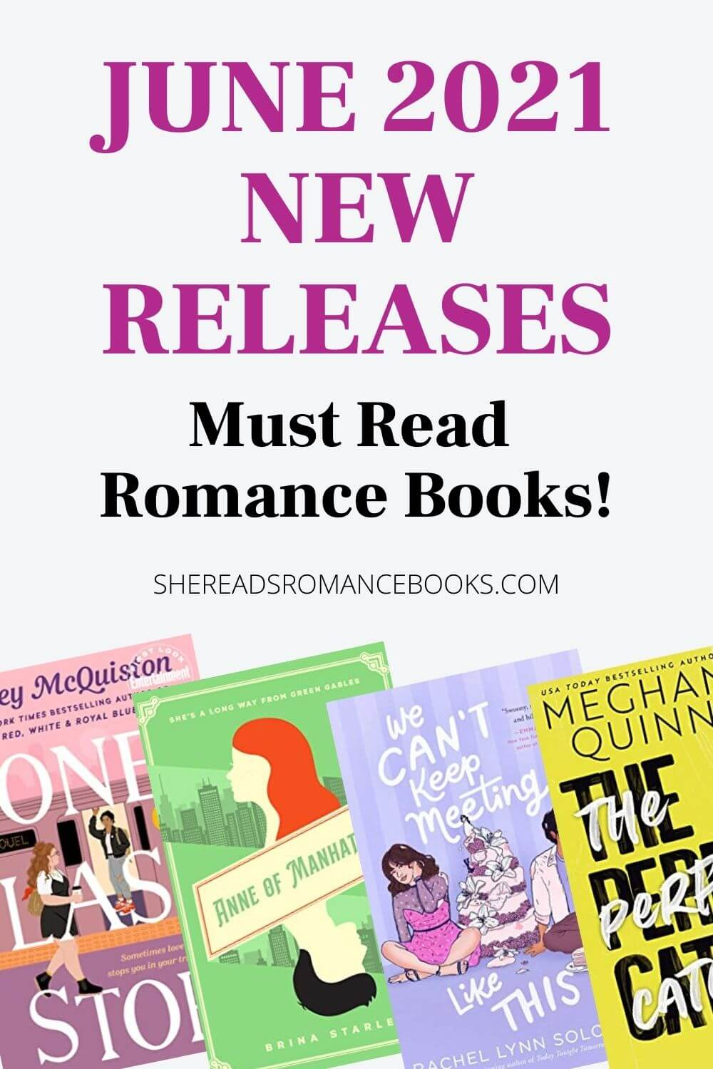 New Romance Book Releases for June 2021 book list.