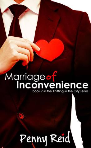 Marriage of Inconvenience romance book cover.