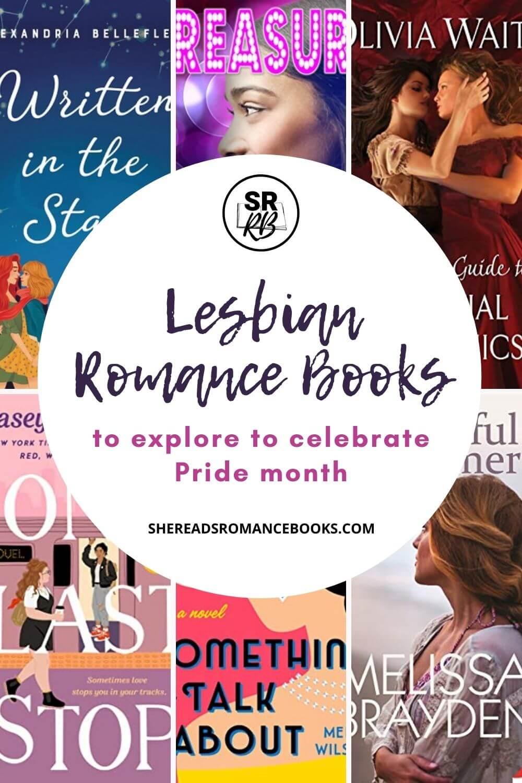 Lesbian romance books list to celebrate Pride month.
