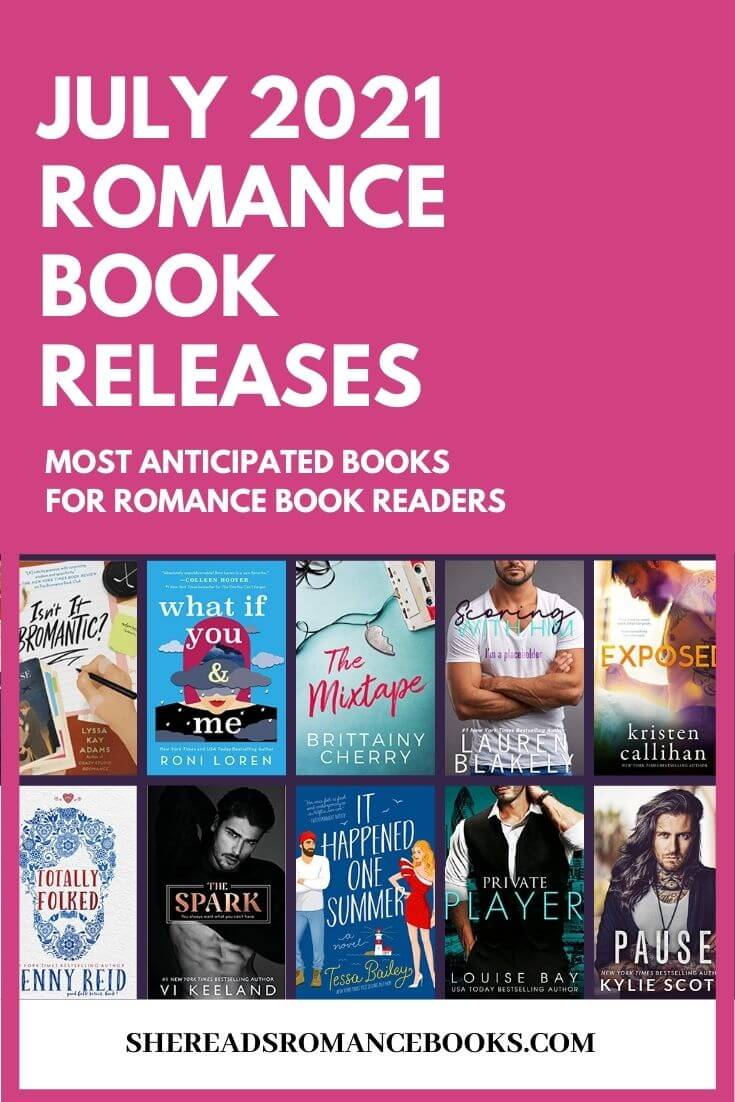 New romance book releases coming July 2021 book list.