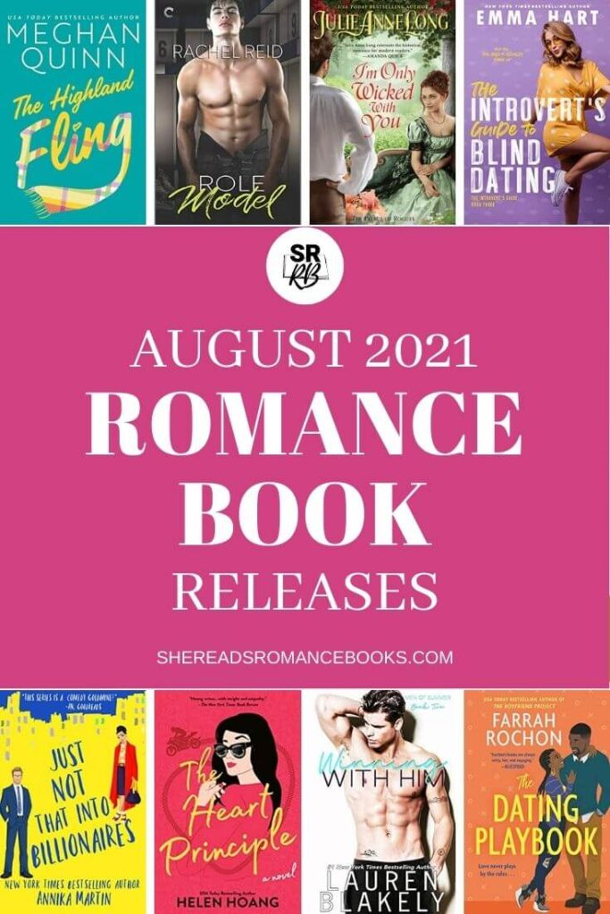 Check out the book list of the most anticipated new romance book releases coming August 2021.