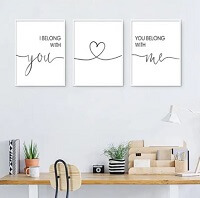 Wall Art for people who love quotes from books.