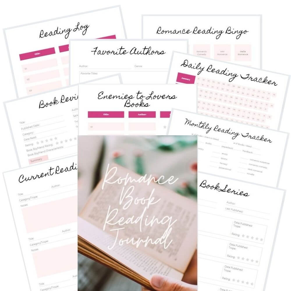 Check out the Romance Book Reading Journal, the romance book tracker, planner and journal all in one designed exclusively for romance book readers.